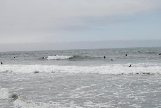Manresa State Beach: Surfers at Manresa Beach