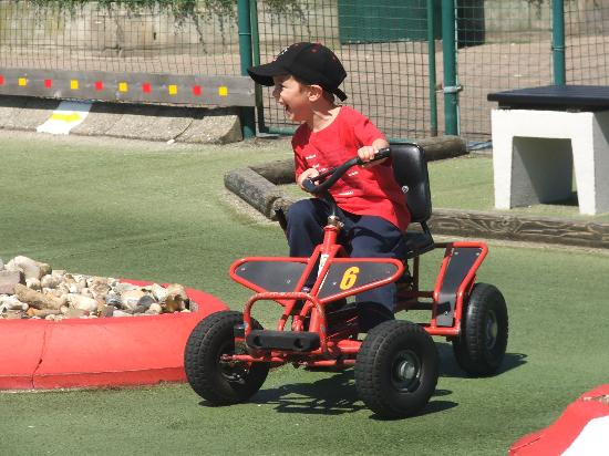 Ocean Resort: This say's it all! My 5 year old enjoying Kid Karting in Blankenburge, a four wheel bike and...