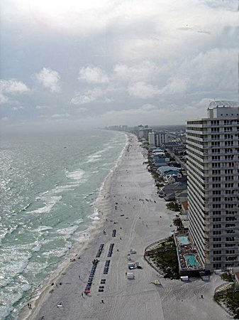 Panama City Beach, FL: West Beach View from PH at Treasure Island