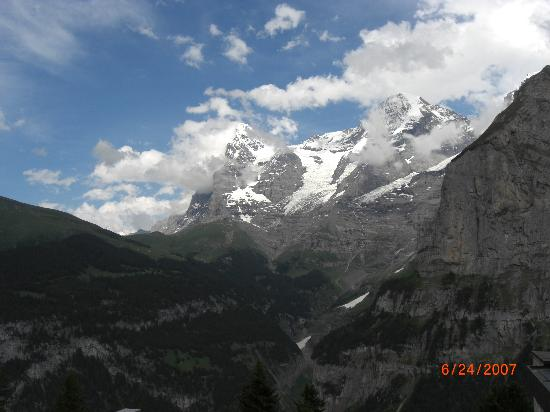 View from the Eiger Guesthouse