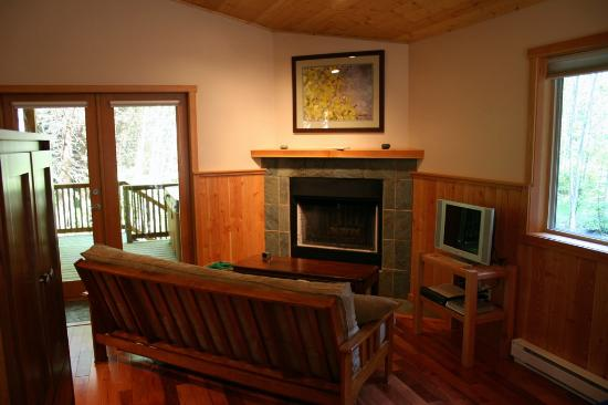 Evergreen Forest Cabins: lounge area
