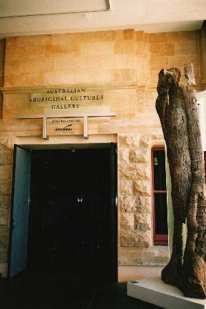 Adelaide, Australia: Entrance to Australian Aboriginal Cultures Gallery, South Australian Museum