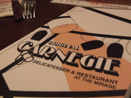 Carnegie Deli at the Mirage : menu