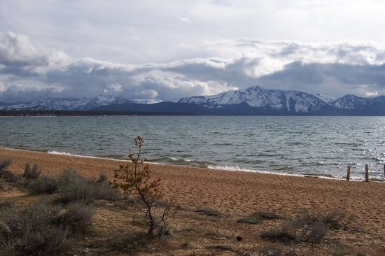 California: Lake Tahoe from the beach in May