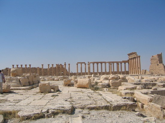 Palmyra, Syria: Bell Temple courtyard