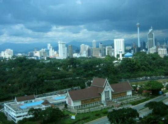 Hilton Kuala Lumpur: View from our room