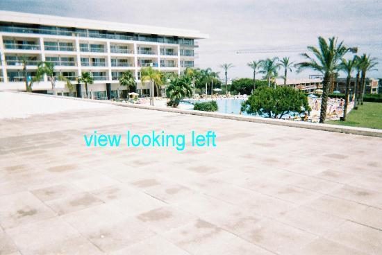 Alto da Colina Aparthotel: looking left towards pool