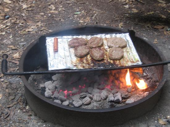 Cherry Hill Park Campground: fire ring / bbq