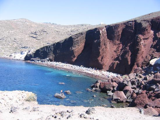 Akrotiri, Greece: View of Red Beach
