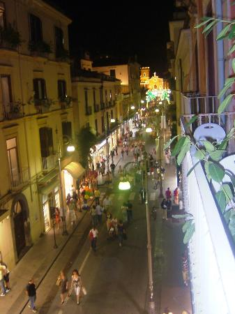 Sorrento Town Suites: main street from our balcony