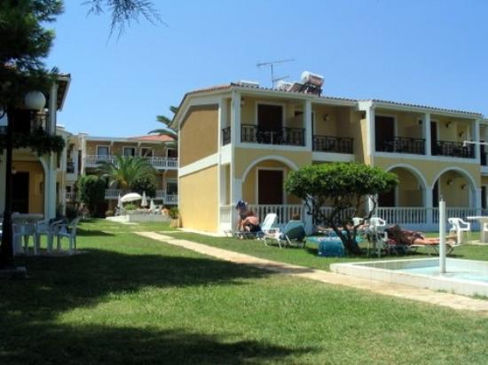 Iliessa Beach Hotel : par where you can sun-bath and walk to the sea