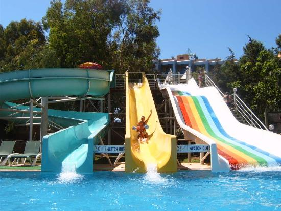 Grand Kaptan Hotel : Waterslides at the Annexe