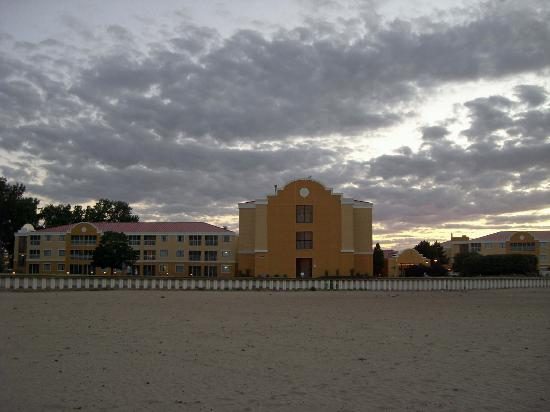 Sandcastle Suites: View from the beach
