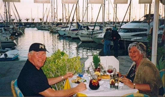 Puerto de mogan dinner in sunset photo de puerto de - Pension eva puerto de mogan ...