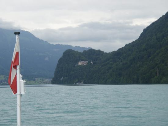 View of Grandhotel Giessbach from Lake Brienz