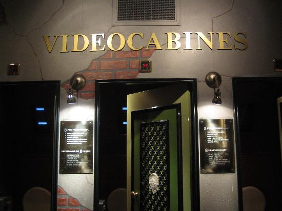 Sexmuseum Amsterdam Venustempel: The videocabins in the 'Red Light'