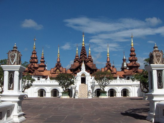 The Dhara Dhevi Chiang Mai: The front of the hotel