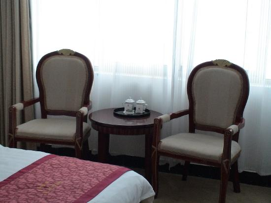 Coffee table with 2 chairs picture of taixing hotel for Chair 9 hotel
