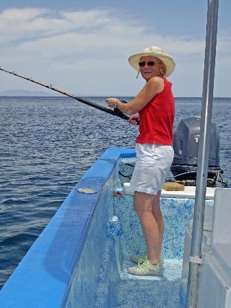 Coco Cabanas Loreto: Shawn fishing for Dorado