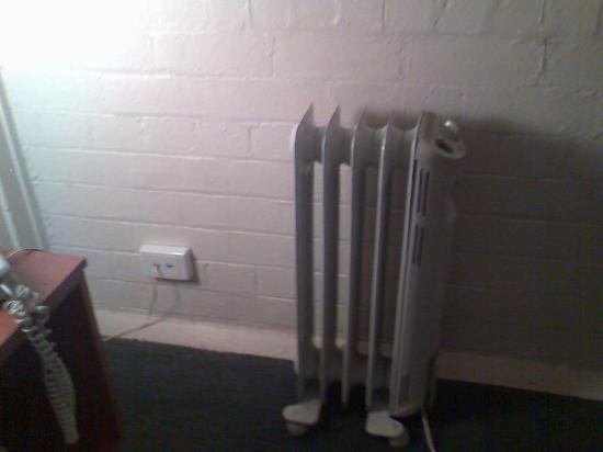 Richmond Hill Hotel: The sole source of heat in the room