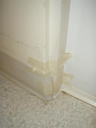 TownePlace Suites Mobile: masking tape on wall