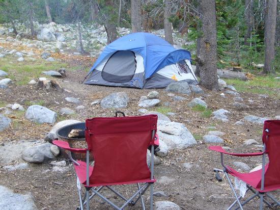Yosemite Creek Campground : Our campsite