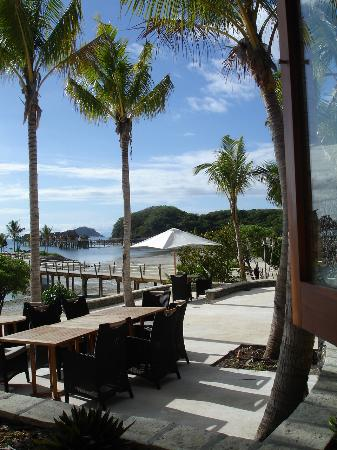 Likuliku Lagoon Resort : dining area for lunch