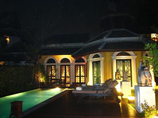 The Dhara Dhevi Chiang Mai : The back of our villa & the pool area
