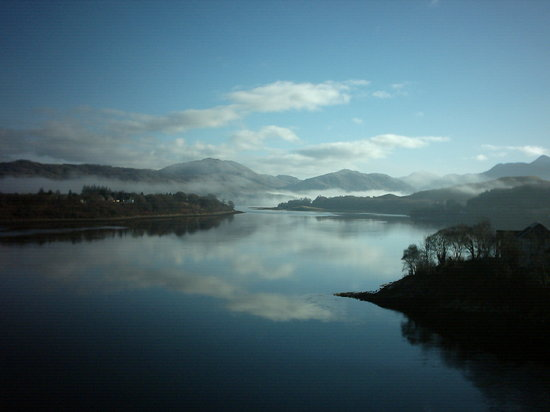 Обан, UK: Morning over Loch Etive