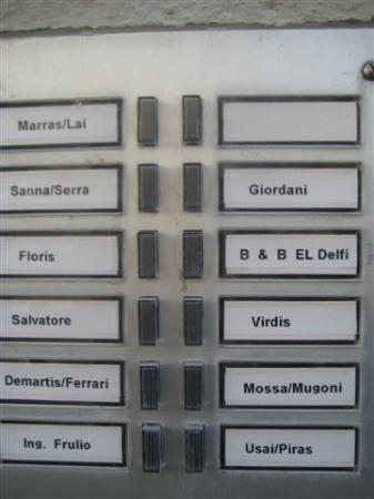Alghero B & B El Delfi: El Delfi buzzer