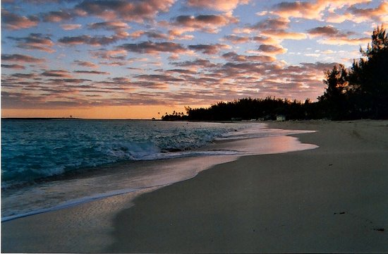 Paradise Island, New Providence Island: Beach at dusk