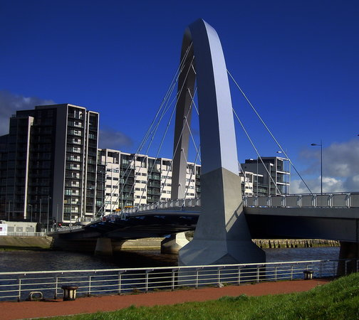 Glasgow, UK: the clyde arc, finneston