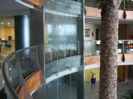 hotel r2 pajara beach indoor waterfall