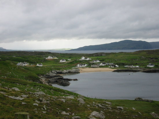 Donegal (amt), Irland: Dooey village, Atlantic Drive, Donegal, Ireland