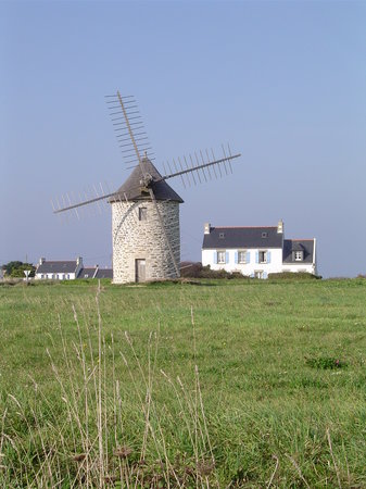 Bretagne, France : Windmill in Brittany
