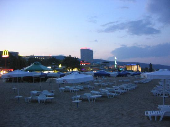 Golden Sands, Bulgaria: The beach at night