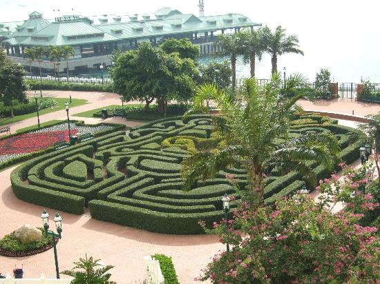 Hong Kong Disneyland Hotel: Our sea view (and Disney pier)