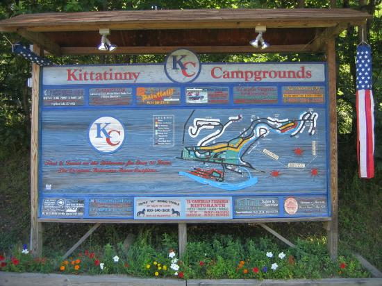 Kittatinny Campgrounds: map