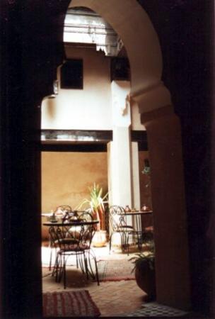 Riad Filalia: Riad's breakfast nook