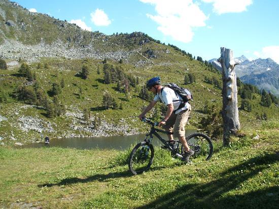 Swiss Alps, Switzerland: Tracouet Lake Nendaz above Sion