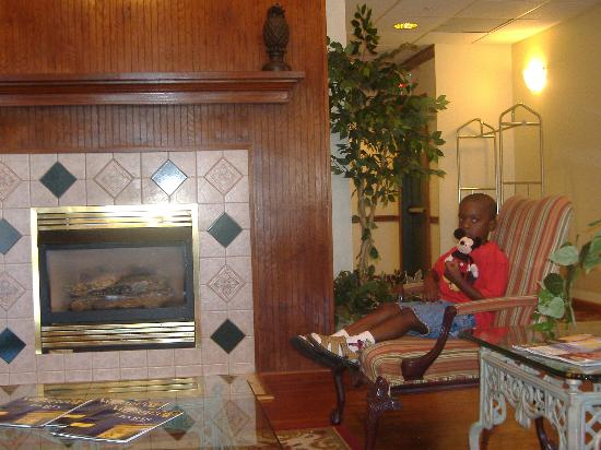 Country Inn & Suites By Carlson, Lumberton: My son in the lobby