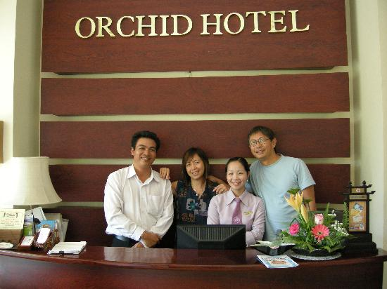 Orchid hotel staff - always smiling