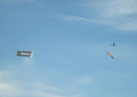 North Wildwood Beach: Plane flying by with a banner ad