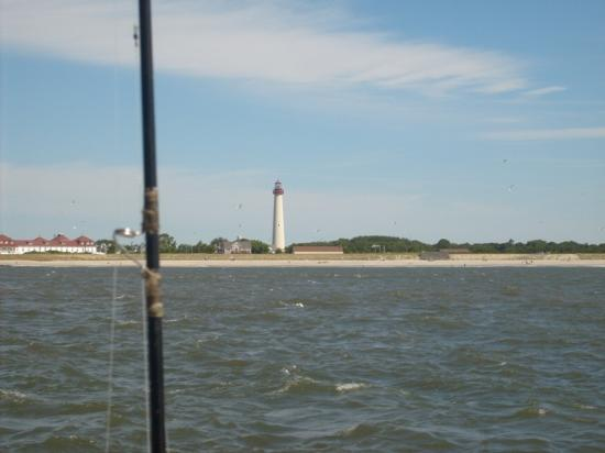 Cape May Point State Park: View of the lighthouse from a boat