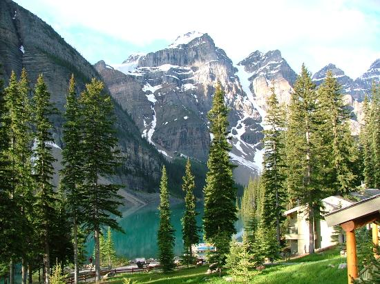 Moraine Lake Lodge: View from our room
