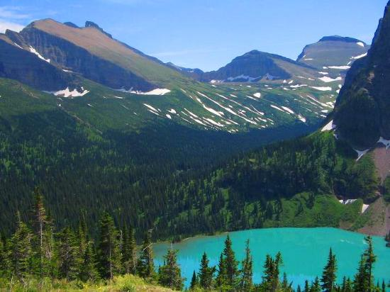 grinnell lake cataract creek valley picture of glacier national