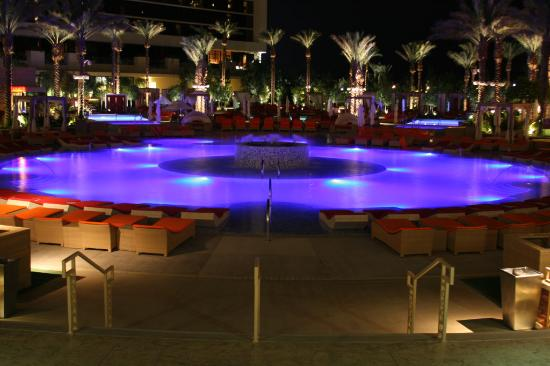 Red Rock Resort Spa Pool At Night