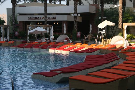 Red rock casino pool morning picture of red rock casino for Pool spa show vegas