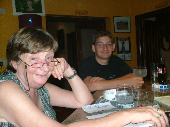 El Romeral Hotel: Greta with Tom her son Looking on