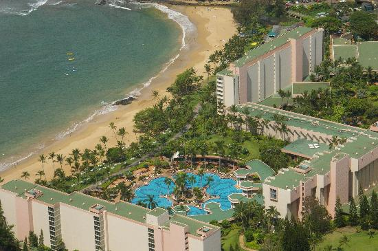 Marriott S Kaua I Beach Club Arial View Of The Kauai From